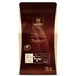 Chocolat Zephyr blanc 34% 1kg – Barry