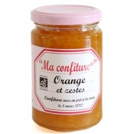 Confiture Orange et zestes bio 350g – Muroise et compagnie