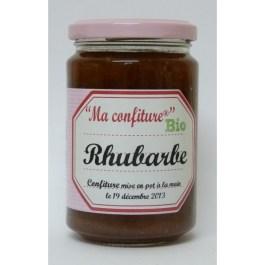 Confiture rhubarbe rouge bio 350g