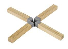 Dessous de plats Bambou silicone gris – Wenko
