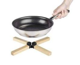 Dessous de plats Bambou silicone noir – Wenko