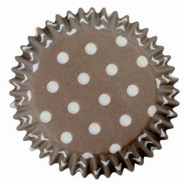 Caissette cupcakes marron poids blancs x60 – PME