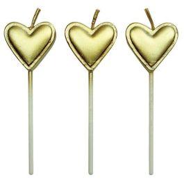 Bougies cœur doré x8 – PME