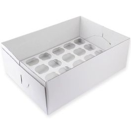 Boite à cupcakes 24 emplacements  44 x 32 H 14 cm – PME