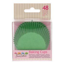Caissettes à cupcakes vert gazon – 48 pcs – Fun Cakes
