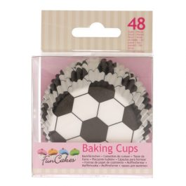 Caissettes à cupcakes football – 48 pcs – Fun Cakes
