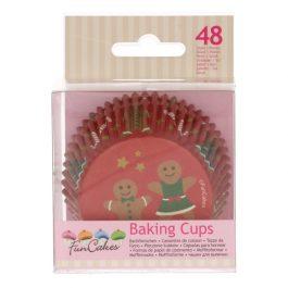 Caissette cupcake bonhomme pain épice x48 – Fun Cakes