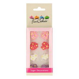 Décors en sucre petites fleurs x32 – Fun Cakes