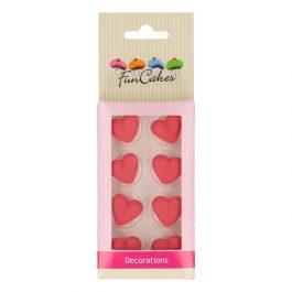 Décorations en sucre coeur x8 – Fun Cakes