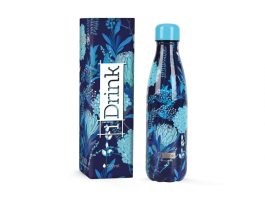 Bouteille Thermique 500 ml fleurs bleus – I-Total