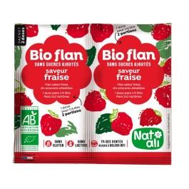 Bioflan non sucré fraise – Nature & Aliments