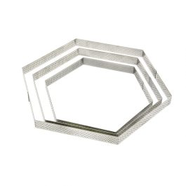 Cercle perforé inox haxagone DIAM:20cm H:2cm – De Buyer