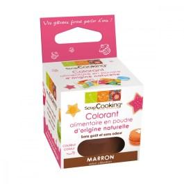 Colorant alimentaire en poudre d'origine naturelle Marron – ScrapCooking