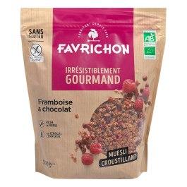 Muesli croustillant framboise chocolat 500g – Favrichon