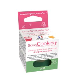 Colorant alimentaire en poudre d'origine naturelle Vert – Scrapcooking