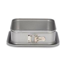 Moule à charnière carré anti adhésif silver top 240 H 70 mm  – Patisse