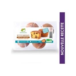 Petites brioches pépites chocolat sans-gluten x4 – Nature & Cie