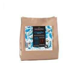 Chocolat noir CARAÏBE 66% fève 1kg – Valrhona