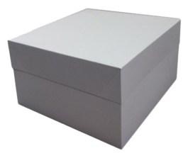 Boîte pâtissière blanche hauteur 15 cm