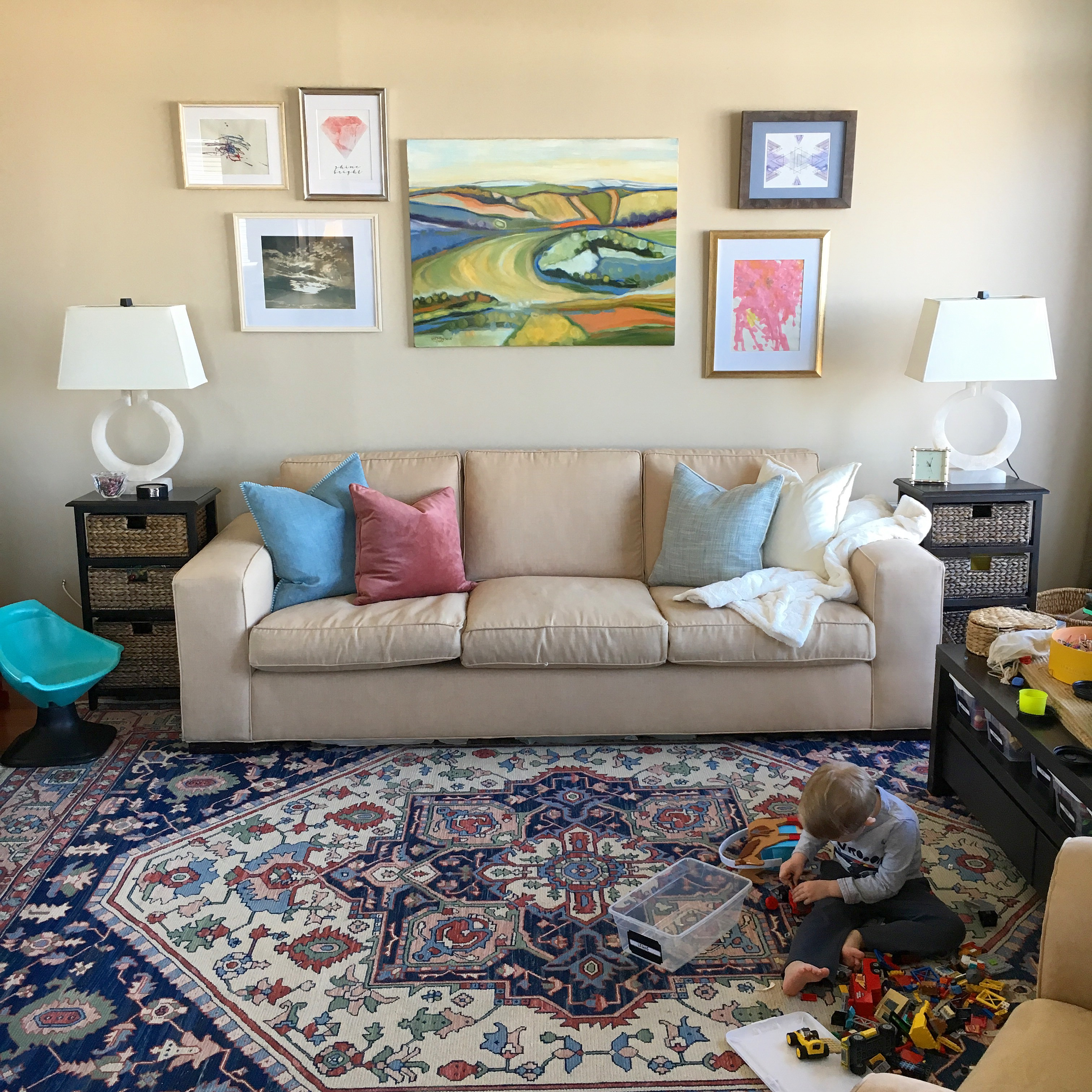 Creating a Gallery Wall (One Way to Tackle the Giant Expanse Over Your Couch)
