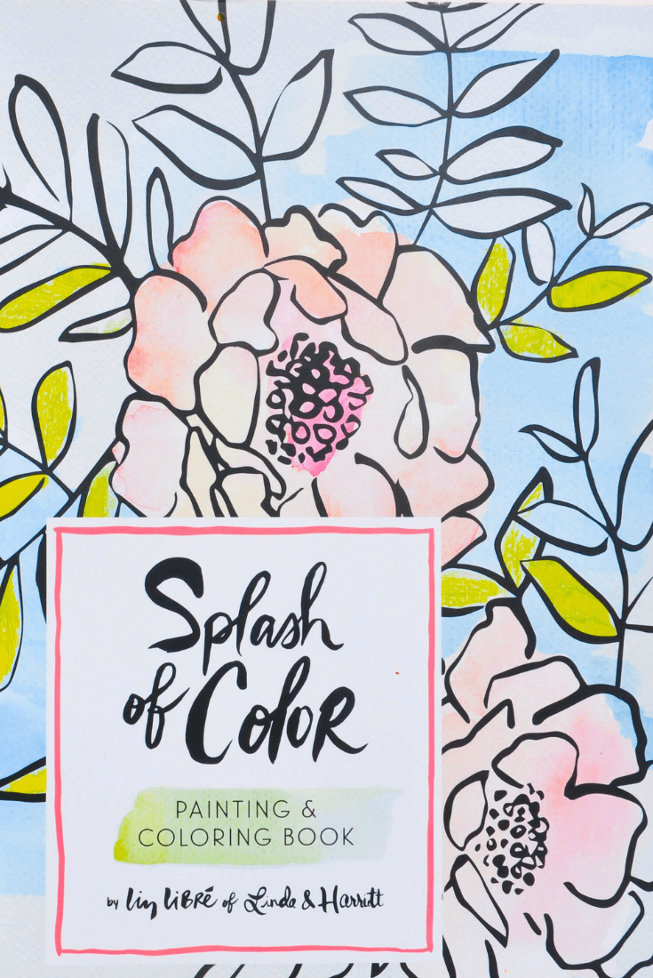 Splash of Color: A Watercolor Coloring Book the Whole Family Will Love