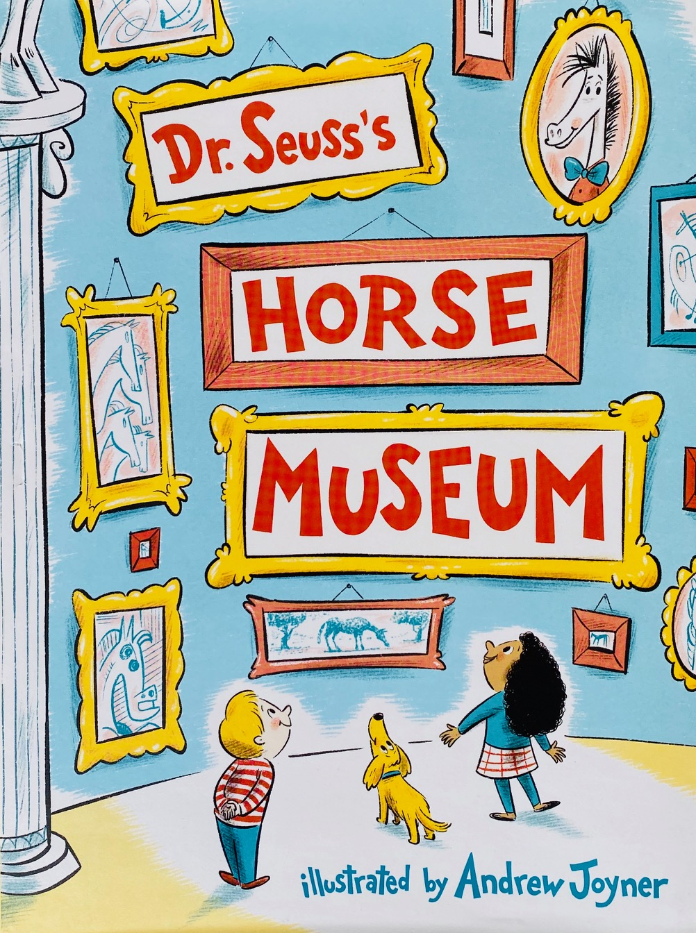 children's art book about representations of horses in art throughout history