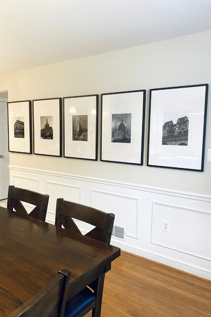 Client Project: Framebridge Gallery Wall Wows in Dining Room