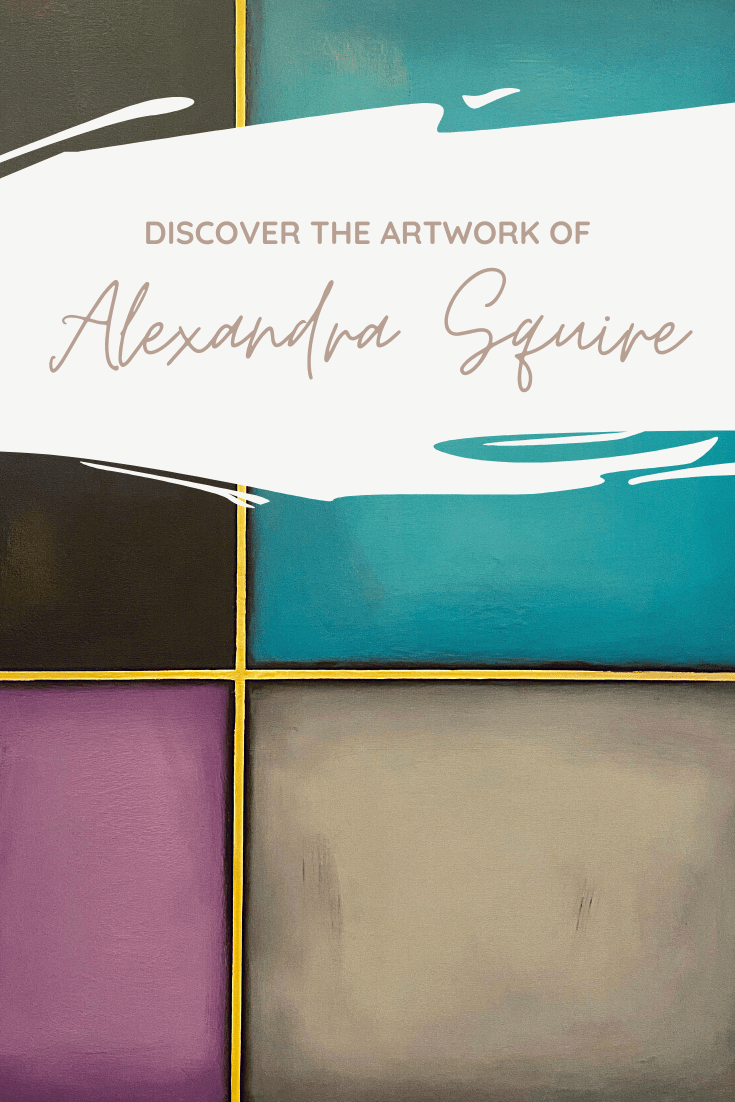 Artist Alexandra Squire Shines With Structured – Her Latest Collection of Resin Coated Paintings