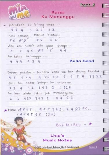 Chord Rossa Ku Menunggu : chord, rossa, menunggu, Piano, Pianika, Rossa, Menunggu, Lhia's, Music, Notes