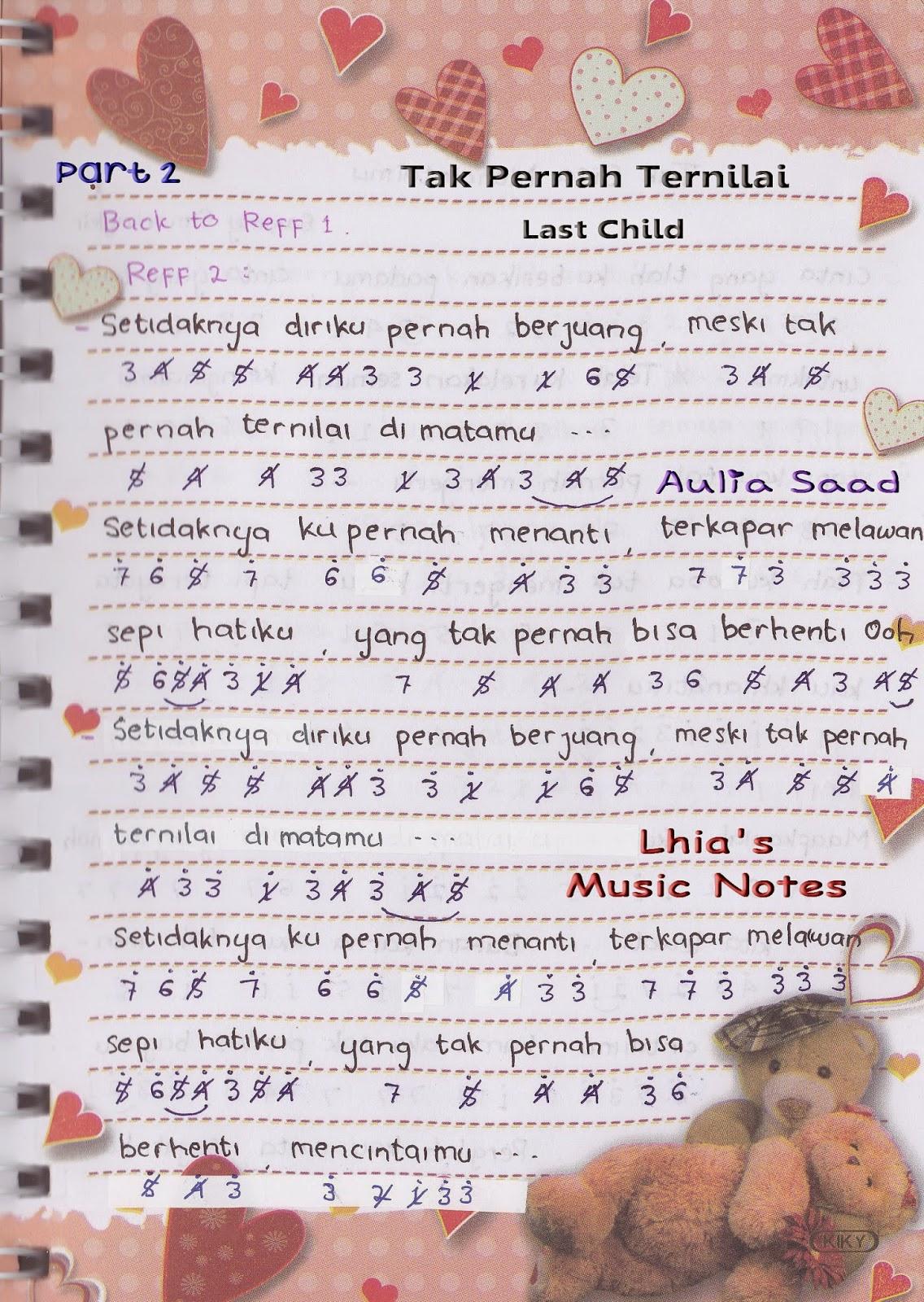 Last Child Tak Pernah Ternilai Chord : child, pernah, ternilai, chord, Piano, Pemula, Child, Pernah, Ternilai, Lhia's, Music, Notes