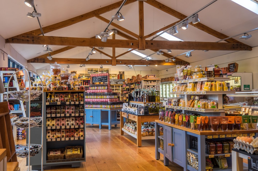 medium resolution of farm shop interior at rhug estate