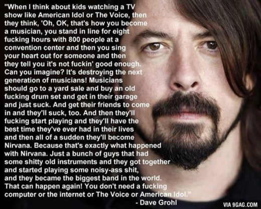 Dave Grohl Quote from 9gag.com