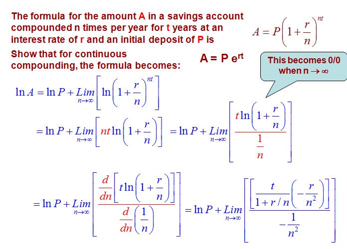 Continuous Compound Interest Proof