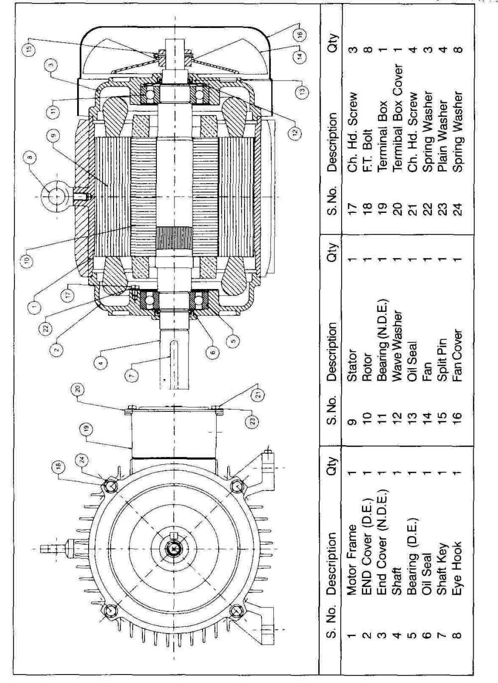 medium resolution of general assembly drawing and spares list motor manufacturing companies in india induction motor three phase motor squirrel cage induction motor