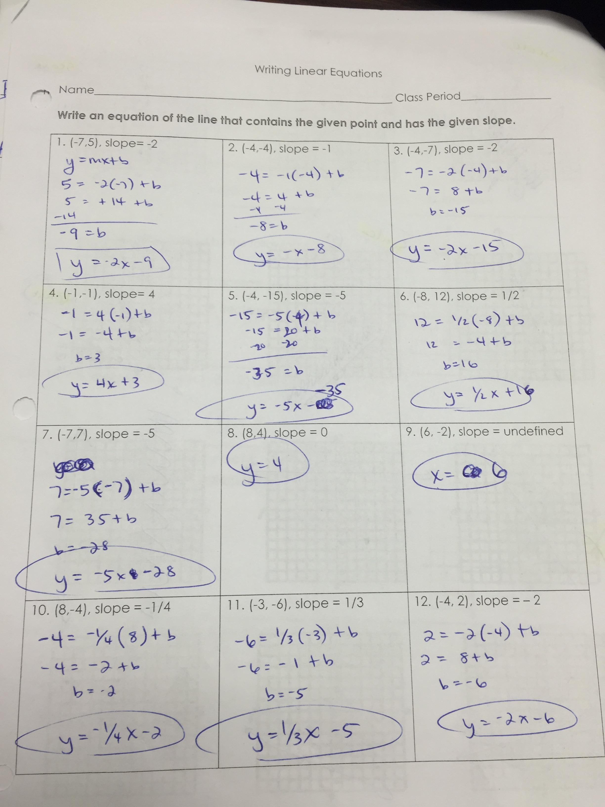 Gina Wilson All Things Algebra Unit 2 Homework 6