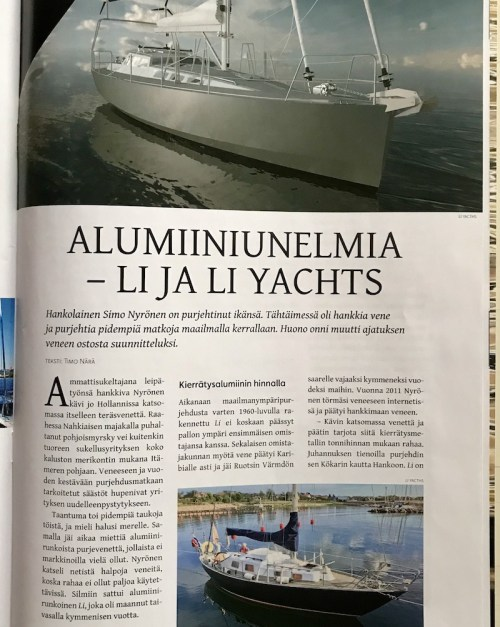 small resolution of first article about li yachts published