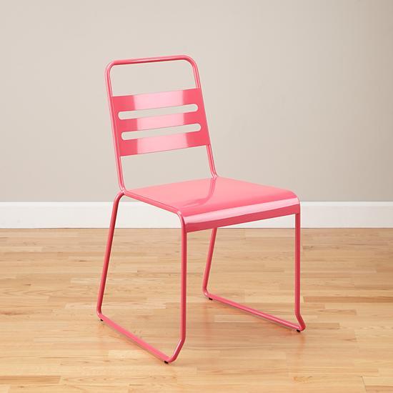 Homeroom Metal Desk Chair Pink  The Land of Nod