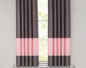 Article D Light Pink And Gray Curtains