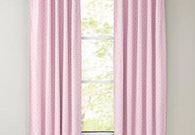 Short Pink Window Curtains
