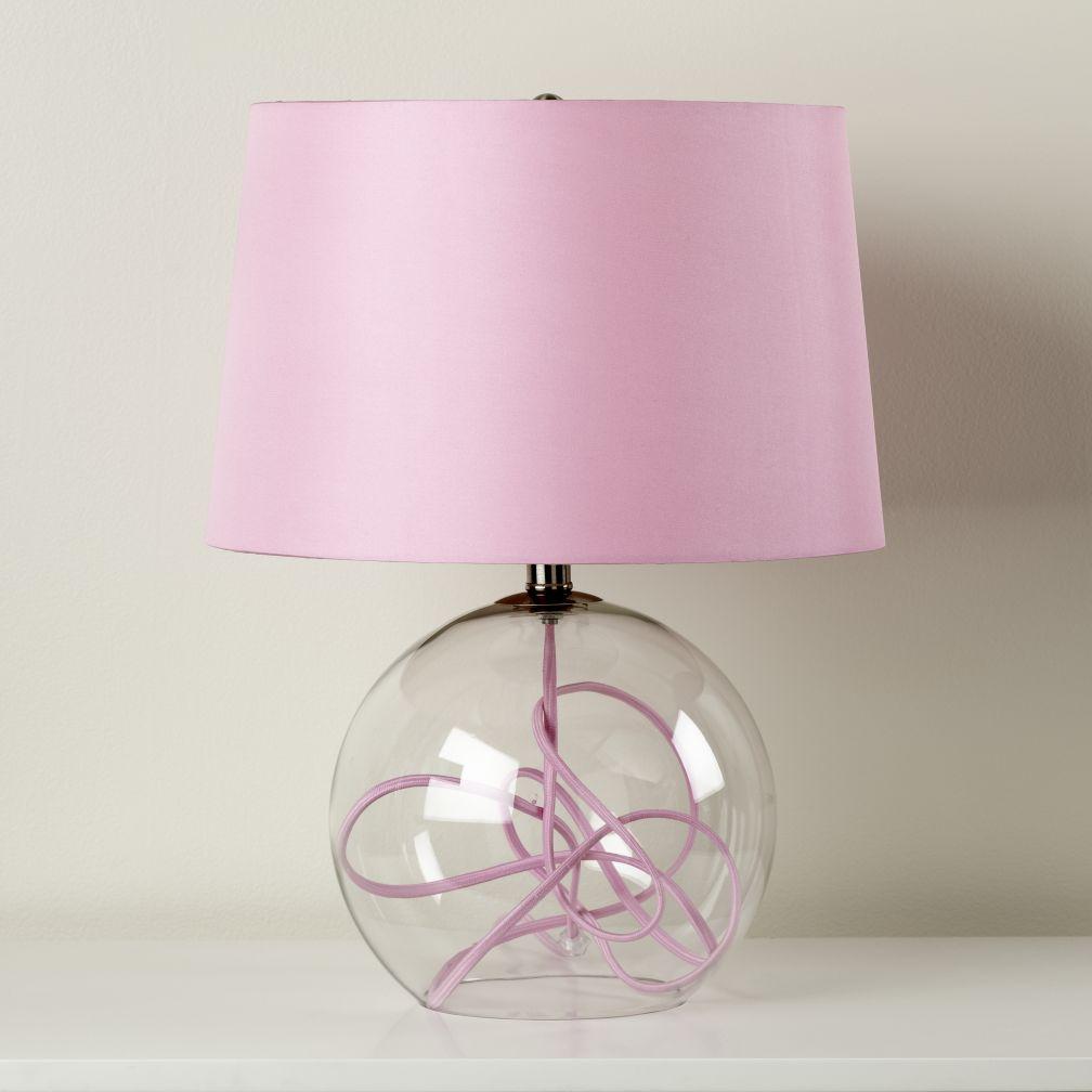 Crystal Ball Table Lamp Pink