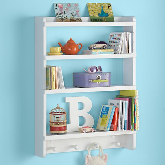 Kids Wall Rack White Hanging Wall Book Shelf The Land