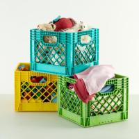 Kids Storage: Colorful Milk Crates for Kids | The Land of Nod