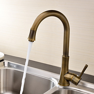 antique bronze kitchen faucet craftsman style hardware deck mounted single handle one hole with brass 435569 2019 96 79