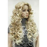 synthetic wig curly blonde