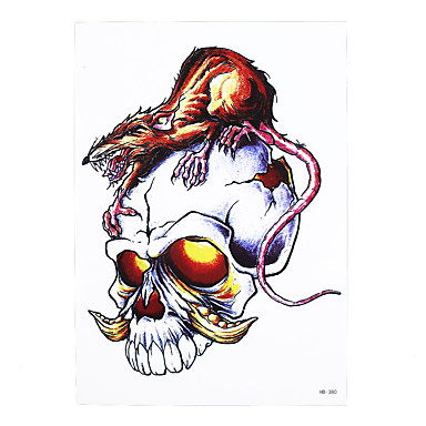 Skull Tattoo Designs For Men On Paper