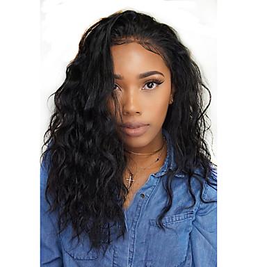 Human Hair Wig Style Brazilian Hair 360 Frontal Natural Wave Wig