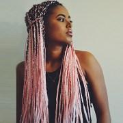 synthetic wig box braids kardashian