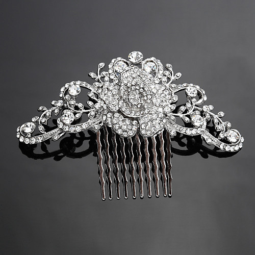 Crystal Fabric Alloy Tiaras Hair Combs 1 Wedding Special