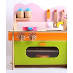 Boys Play Kitchen Set Cabinets Lights Toy Kitchens Food Search Lightinthebox Pretend Wooden Kid S Girls Gift 1 Pcs