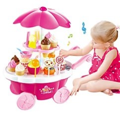 Toy Kitchens Contemporary Kitchen Design Cheap Play Food Online For Set Pretend Ice Cream Sweet Candy Shop Plastic Shell Preschool Gift 39 Pcs